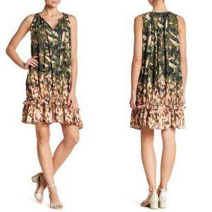Catherine Malandrino Dress Sleeveless Ruffle Hem